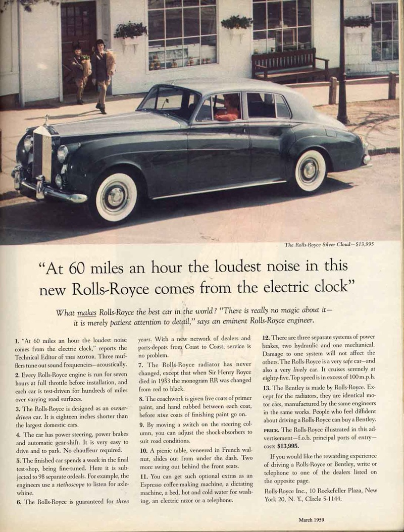 Rolls Royce David Ogilvy